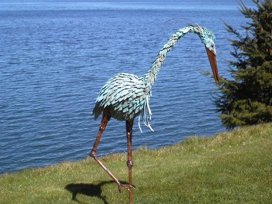 Custom Heron Sculpture