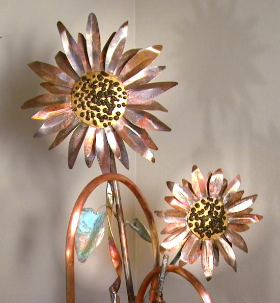 Sunflower Copper Sculpture