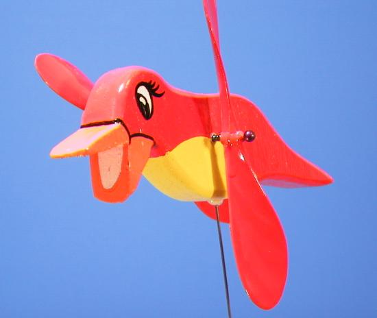 Red Bird Whirligig on Top